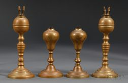 Two Pair of  Brass Table Lamps