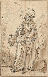 Manner of Bartolomé Esteban Murillo (Spanish, 1618-1682)      Salvator Mundi