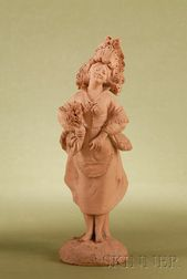 Terracotta Figure of Young Girl