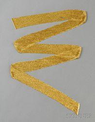 18kt Gold Scarf Necklace, Yuri Ichihashi
