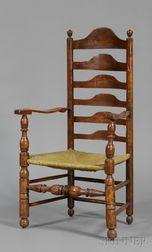 Turned Maple Slat-back Armchair