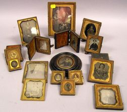 Sixteen Early Photographic Portraits with Cases.