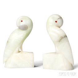 Pair of Art Deco-style Parrot Bookends