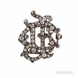 Late Georgian Diamond Monogram Brooch