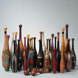 Collection of Indian Clubs