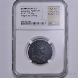 Roman Vespasian As, NGC VF