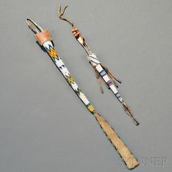 Two Plains Beaded Hide Awl Cases