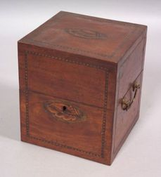 Mahogany Veneer Inlaid Box