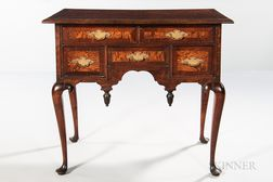 Queen Anne Maple and Mahogany Veneer Dressing Table