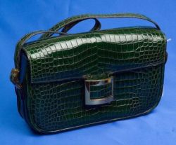Green Crocodile Handbag, Hermes
