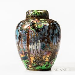 Wedgwood Fairyland Lustre Ghostly Woods   Malfrey Pot and Cover