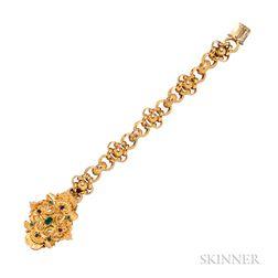 Early Victorian Gold Gem-set Bracelet