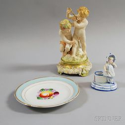 Three Pieces of KPM Porcelain
