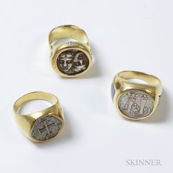 Three Gold and Coin Rings