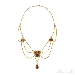 Gold and Citrine Necklace