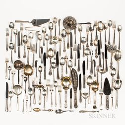 Large Group of Sterling Silver Flatware