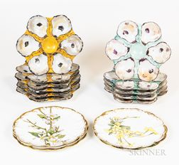 Group of Hand-painted Porcelain Plates