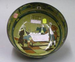 1908 Buffalo Pottery Deldare Ware Fruit Bowl