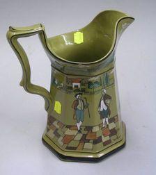Large 1908 Buffalo Pottery Deldare Ware