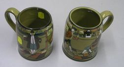 Two 1908 Buffalo Pottery Deldare Ware