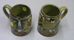 Two 1908 Buffalo Pottery Deldare Ware