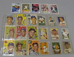 Twenty-three 1951, 1954, and 1982 Bowman and Topps Baseball Cards