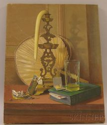 Unframed 20th Century American School Oil on Canvas of a Still Life with Cigarettes
