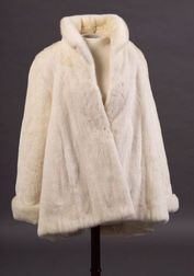 White Mink Stroller, Zandra Rhodes for Saks Fifth Avenue