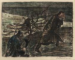 Ernst Barlach (German, 1870-1938)      Three Lithographs from Der Arme Vetter