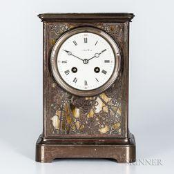 Tiffany Studios Grapevine-pattern Mantel Clock