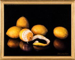 Ronalee Crocker (American, b. 1953)      Still Life with Lemons.