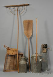 Nine Shaker Farm and Household Implements