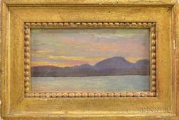 Philip Goodwin (American, 1881-1935)      Mountain Lake at Sunset