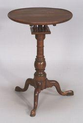 Chippendale Walnut Tilt-top Candlestand
