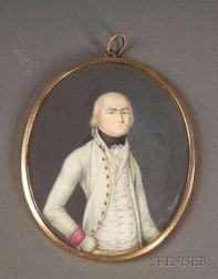 Continental Portrait Miniature of a Gentleman