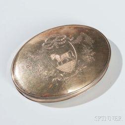 George III Sterling Silver-gilt Seal (Skippet) Box
