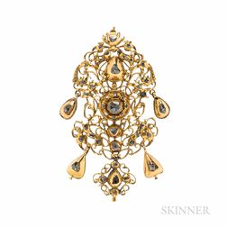 Antique Gold and Diamond Pendant