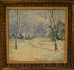 Jozef Orlowsky (American, 20th Century)      Winter Scene.