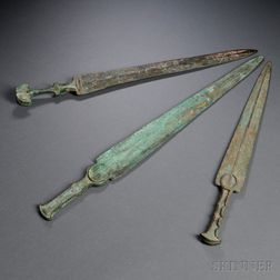 Three Bronze Daggers