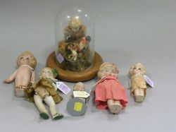 Group of Six All Bisque Dolls