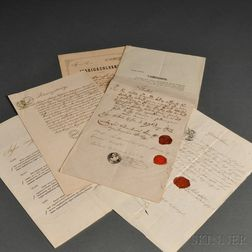 Six Austro-Hungarian Business Papers, Licenses and Bankruptcy Notices