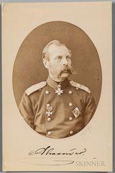 Alexander II, Emperor of Russia (1818-1881) Signed Photograph.