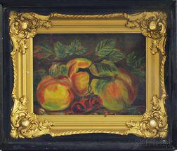 American School, 19th/20th Century       Still Life with Peaches.