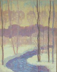 Framed Winter Landscape