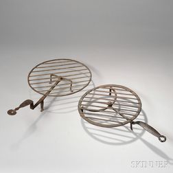 Two Wrought Iron Revolving Broilers