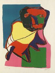 Karel Appel (Dutch, b. 1921)  Figure