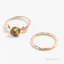 Sofia Kaman Gold and Yellow Sapphire Ring