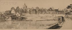 John Taylor Arms (American, 1887-1953)      Reflections at Finchingfield, England