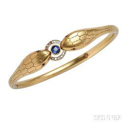18kt Gold Snake Bracelet