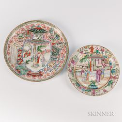Two Rose Mandarin Plates